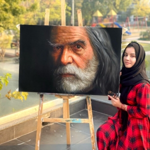 Oldman painting