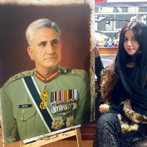 General Qamar Javed Bajwa Painting