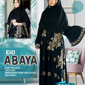 Eid Special Black & Gold Abaya